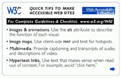 W3C Quick tips to make accessible website...
